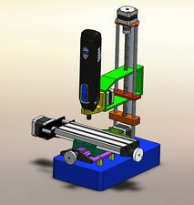 Do It Yourself 3D printable 4 axis Miling machine for Dremel tool