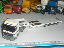 ��052�� SPECIAL SEMI TRAILER FLAT TRUCK HERPA CAMION MERCEDES ECHELLE 1:87 USED