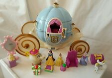 Polly Pocket Disney Cenicienta's Carro 1999 figuras. Accesorios. Bluebird