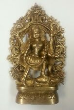 Hindu Goddess Kali Standing Large Brass Full Metal Statue Figurine #BST157