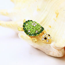 Headphone Cute Tortoise Green crystal ear jack Dust Cap plug Fit any phone htc
