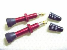 35mm Red NEW WTB Road Bike No Tubes Tubeless Presta Valves Pair Anodized AL