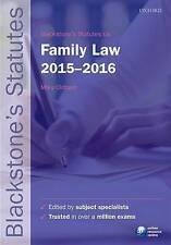 Blackstone's Statutes on Family Law 2015-2016 (Blackstone's Statute-ExLibrary