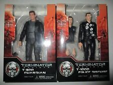 TERMINATOR Genisys T-800 Guardian and T-1000 Action Figure Lot NECA NIB