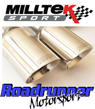 "Milltek Golf GTi MK5 Exhaust 3"" Turbo Back Race System D/Pipe Cat Non Res Polish"