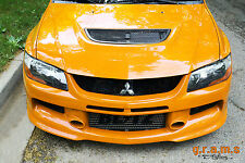 Mitsubishi Lancer Evo 7 8 9 Front Bumper with Lip JDM Style Body Kit, Racing v4