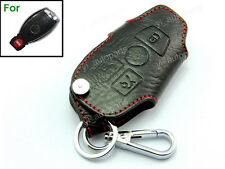 Leather Remote Shell Case Key Holder For Benz Protective Chain 3B C E CLK Class