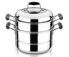 28cm Double Tier Stainless Steel Steamer Set