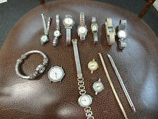 LARGE LOT OF WATCHES & PIECES FOR REPAIRS *ESTATE SALE FIND*