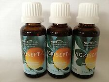 NEW & SEALED 3 BOTTLES AGRISEPT ORIGINAL CITRUS SEED Extract FRESH EXP in 2019