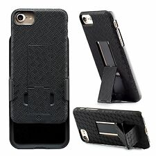 WizGear Shell Holster Combo Case for Apple iPhone 7 PLUS, Kick-Stand, Belt Clip.