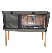 Charles Bentley Deluxe Guinea Pig Rabbit Hutch cubierta Bentley pet/hutch.01 Jaula