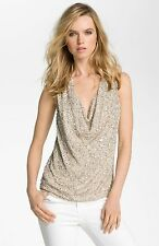 Haute Hippie  Sleeveless Sequin Tank Top Blouse  $395.00 size L