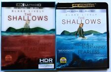 THE SHALLOWS 4K ULTRA HD UHD BLU RAY 2 DISC SET + LENTICULAR SLIPCOVER SLEEVE