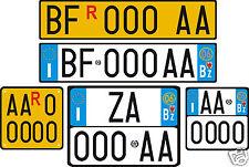 Targhe MODELLINI Adesivi Rifrangenti in scala sigla anno auto etichette europa