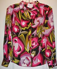 Missoni for Target Floral Rose Passione Purple Blouse XS Pink Extra Small