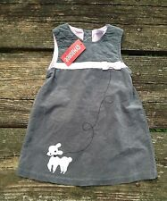 New Gymboree Girls Dress Jumper Size 2T Grey Pink Velour Poodle