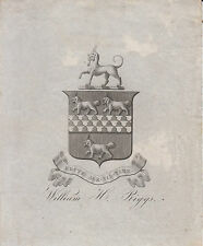 § Bookplate William H. RIGGS (1831-1914) §