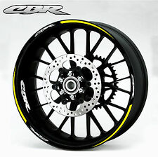 Honda CBR Yellow Wheel Rim Decals Stickers