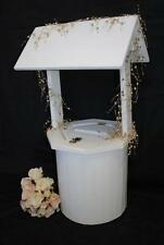Wedding Wishing Well - wooden timber round white, engagement, large card keeper