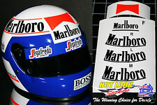 1/2 Alan Prost Helmet 1985 Vinyl MISSING decals suit F1 McLaren