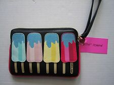 NWT BETSEY JOHNSON POPSICLE  Zippered Wristlet Small Clutch Purse