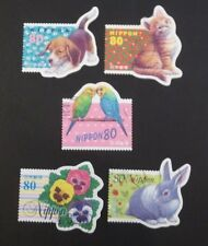 JAPAN USED 1998 GREETINGS 5 VALUE VF COMPLETE SET SC# 2614 a - e
