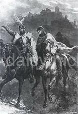 The Teutonic Knights in Poland Horseback Crusades 7x5 Inch Print