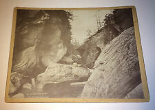 Antique Victorian Outdoor Rocky Landscape Cavendish Gorge, Vermont Cabinet Photo