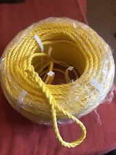 150FT OF NEW 8MM ROPE. YELLOW ANCHOR BOAT MOORING WITH SNAP HOOK  d shackle b