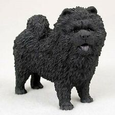 CHOW CHOW Dog HAND PAINTED FIGURINE Statue Collectible Black Puppy NEW resin