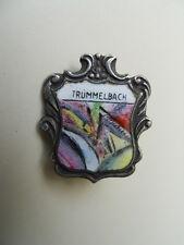 Ancienne broche insigne épinglette écusson blason Trummelbach  émaillée