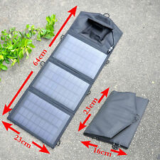 Portable 10.5W Folding Solar Panel USB Travel Power bank Battery Charger Camping