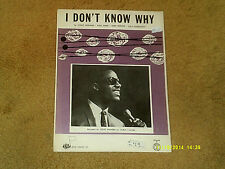 STEVIE WONDER Rolling Stones sheet music I Don't Know Why '69 3 pp. VG+