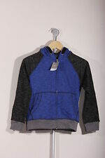 New Boys Hoodie Blue with Black Mottled Sleeves Childrens Hoody by Next RRP £14
