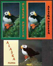3 Alaska Postcards - Wildlife - Birds - Puffin
