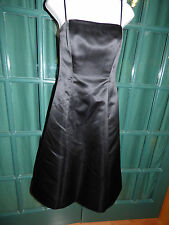 BC BG MAXAZRIA BLACK POLYESTER SATIN STRAPLESS COCKTAIL DRESS SIZE 4