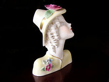 ViNTaGe LENCI ArT DeCo Pottery Lady~Woman Head Bust Figurine Sculpture Statue