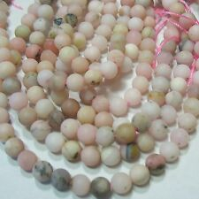 """NEW! Matte Pink Peruvian Opal 6mm Beads 16"""" Spacer Accent Natural Color"""