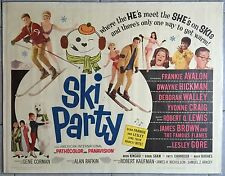 Affiche SKI PARTY Alan Rafkin FRANKIE AVALON Dwayne Hickman DEBORAH WALLEY