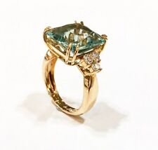 KATE RING 750 ROSEGOLD 18K 10,30 ct PRASIOLITH/ DIAMANT