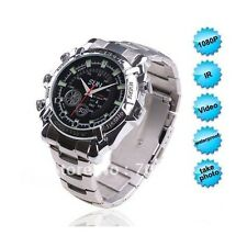 Stainless Steel SPY WATCH 1080P Full HD Watch Camera with Night Vision