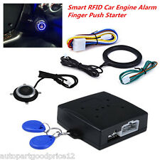 Auto Car Engine Ignition Starter Keyless Entry Push Start RFID Lock Safety Alarm