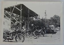 1950's Photo of Motorcycle Track Grandstand Motorcycles in Front, Stockton, CA.?