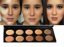 New10 Foundation Cream Contour Face Makeup Set Highlighter Concealer Palette