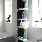 4 Tier Telescopic Corner Shower Tidy Bathroom Organiser/Rack/Shelf Basket/Caddy