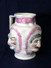 ! c.1800 RARE Staffordshire Luster Grotesque Pitcher Pearlware Jug