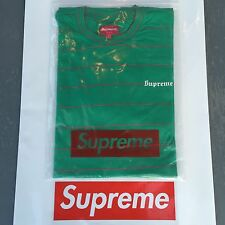 "SUPREME ""PINSTRIPE"" TEE (L) (PINE GREEN) UNDERCOVER TEE SS16 -FREE SHIPPING-"