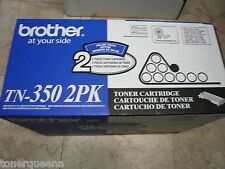 NEW ! 2Pk GENUINE Brother TN-350 TONER Twin Pack HL2040 HL2070 MFC7220 MFC7820