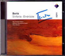 Pierre BOULEZ Signiert BERIO Sinfonia & Eindrücke CD Pasqier New Swingle Singers